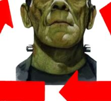 FRANKENSTEIN - MADE OF 100% RECYCLED HUMAN BODY PARTS Sticker