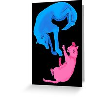 Blue VS Red Greeting Card