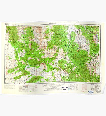 USGS TOPO Map Arizona AZ Prescott 707530 1954 250000 Poster