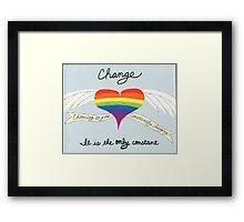 Changing Framed Print