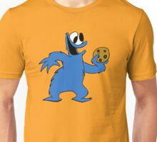 Cookie Monster with cookie Unisex T-Shirt