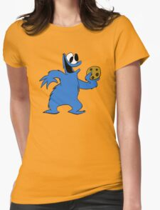 Cookie Monster with cookie Womens Fitted T-Shirt