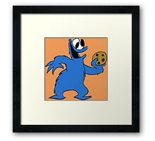 Cookie Monster with cookie Framed Print