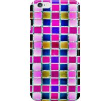 Pink Squares © iPhone Case/Skin