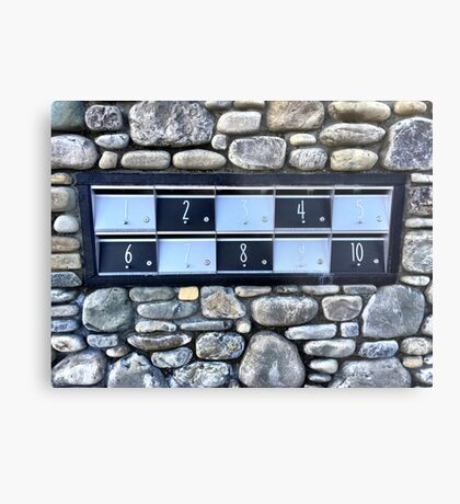 Numbered One To Ten Metal Print