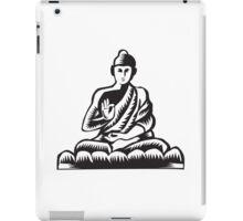 Buddha Lotus Pose Woodcut iPad Case/Skin