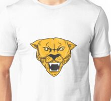 Angry Cougar Mountain Lion Head Drawing Unisex T-Shirt