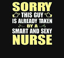 Sorry this guy is already taken by a smart and sexy nurse - T-shirts & Hoodies Womens Fitted T-Shirt