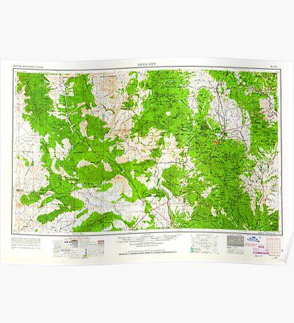 USGS TOPO Map Arizona AZ Prescott 315576 1954 250000 Poster