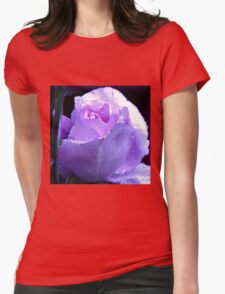 Dreamy Blue Moon Rose Beauty in Reflection Frame T-Shirt