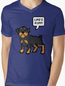 Life's Ruff Mens V-Neck T-Shirt