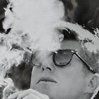 JFK Smoking by yayhey