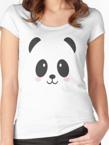 Face Panda Women's Fitted Scoop T-Shirt