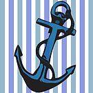 Vintage Striped Anchor  by IamJane--