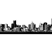 melbourne skyline by tinncity