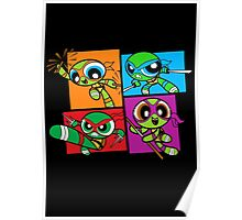 Power POP Turtles Poster