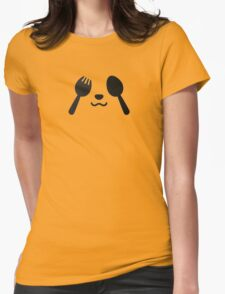 fork and spoon panda eyes Womens Fitted T-Shirt