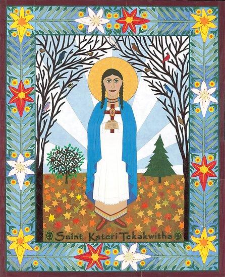 St. Kateri Tekakwitha Icon by David Raber