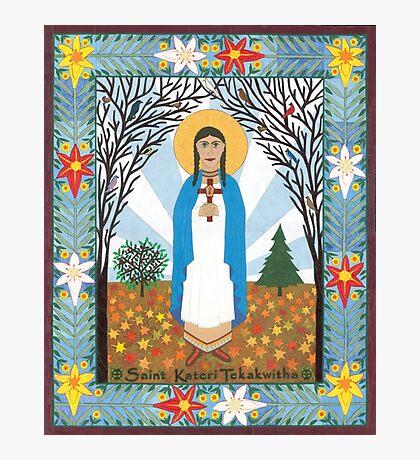 St. Kateri Tekakwitha Icon Photographic Print