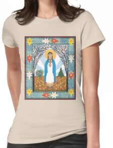 St. Kateri Tekakwitha Icon Womens Fitted T-Shirt