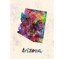 Arizona US state in watercolor Photographic Print