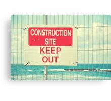 Construction Site - Keep Out Canvas Print