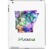 Arkansas US state in watercolor iPad Case/Skin