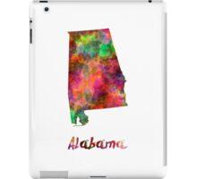 Alabama US state in watercolor iPad Case/Skin