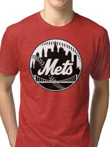 NY METS LOGO B/W Tri-blend T-Shirt