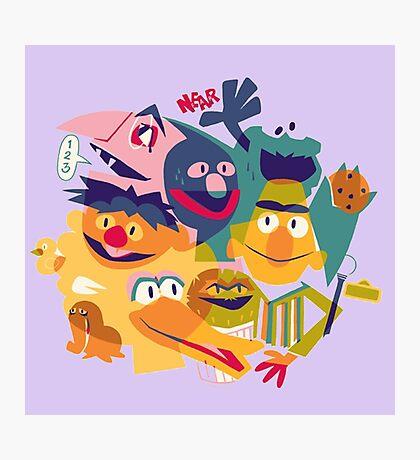 Sesame Street Photographic Print