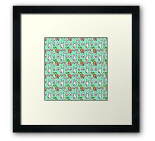 Korean alphabets, rabbit and carrot Framed Print