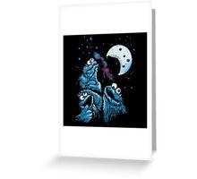 Theere Monster Cookies Greeting Card