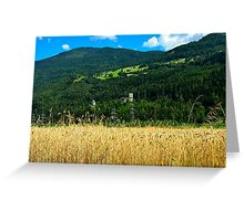 The Castle Petersberg in wooded hillside, Tirol, Austria Greeting Card