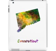 Connecticut US state in watercolor iPad Case/Skin