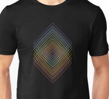 Geometric colored squared echo lineart Unisex T-Shirt