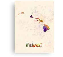 Hawaii US state in watercolor Canvas Print