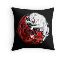 Ice and Fire Throw Pillow