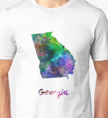 Georgia US state in watercolor Unisex T-Shirt
