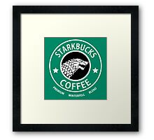 Game of Thrones Starbucks Coffee Framed Print