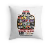 The Evillest Villain Throw Pillow