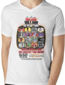 The Evillest Villain Mens V-Neck T-Shirt