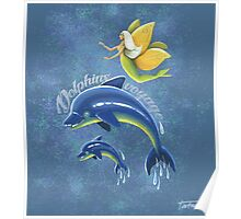 Dolphins voyage - acrylic painting Poster