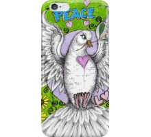 Peace dove Hand drawn in acrylics iPhone Case/Skin