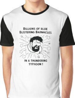Captain Haddock - Blistering Barnacles B&W Graphic T-Shirt