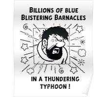Captain Haddock - Blistering Barnacles B&W Poster