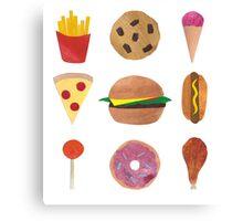 Junk Food! Canvas Print