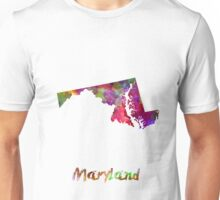 Maryland US state in watercolor Unisex T-Shirt