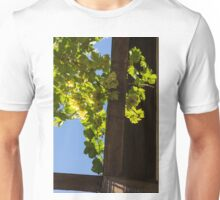 Overhead Grape Harvest - Summertime Dreaming Of Fine Wines - A Vertical View Unisex T-Shirt