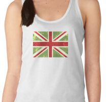 London Calling, Vintage Phone Booth, Union Jack Women's Tank Top