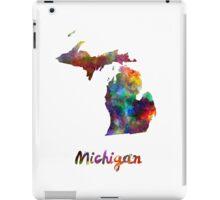 Michigan US state in watercolor iPad Case/Skin